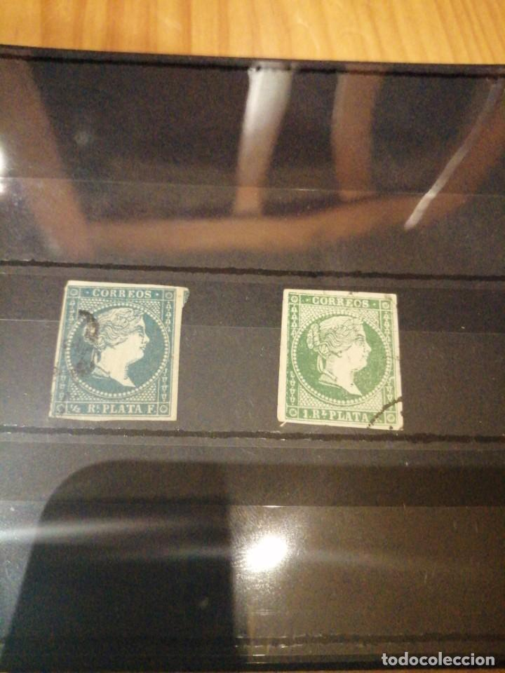 2 SELLOS DE ANTILLAS 1955 (Sellos - España - Amadeo I y Primera República (1.870 a 1.874) - Usados)