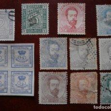 Sellos: PRIMER CENTENARIO - 1872 - CORONA REAL CIFRAS Y AMADEO I - EDIFIL 115/119 Y 121/126 -.. Lote 204991461