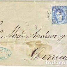 Selos: CARTA DE BARCELONA A DENIA CON EDIFIL 107. Lote 206312412