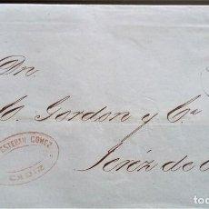 Sellos: ALEGORÍA CADIZ PARRILLA NUMERADA ENVUELTA A JEREZ 1870 EDIFIL 107. Lote 206336895