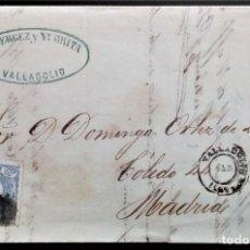 Sellos: ERROR MATASELLO ALEGORÍA VALLADOLID CARTA MADRID 1871 EDIFIL 107 MATASELLOS SIN DÍA Y AÑO MES INVERT. Lote 206337470
