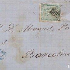 Sellos: AÑO 1873 EDIFIL 133 CARTA MATASELLOS ROMBO TORTOSA TARRAGONA MEMBRETE FERNADO NAVARRO DE CHERTA. Lote 207103132