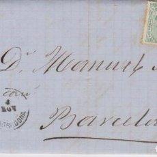 Sellos: AÑO 1873 EDIFIL 133 CARTA DE CHERTA MATASELLOS ROMBO TORTOSA MEMBRETE FERNANDO NAVARRO. Lote 208758847