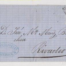 Sellos: ENVUELTA. 1872. SANTANDER A RIBADEO, LUGO. SELLO 12 CTS. AMADEO I. Lote 209625920