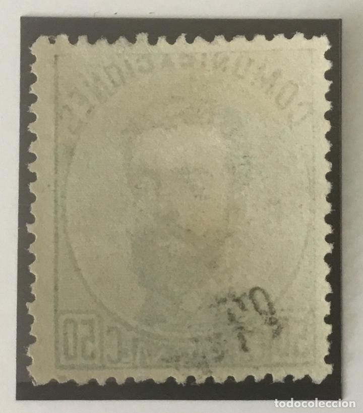 Sellos: 1872-ESPAÑA AMADEO I EDIFIL 126 (*) 50 CÉNTIMOS VERDE - NUEVO - - Foto 2 - 209672288