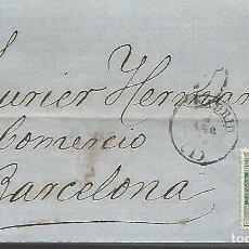 Sellos: ESPAÑA.2 CARTAS COMPLETAS ESCRITAS EN 1873 DIRIGIDAS DE MADID A BARCELONA. Lote 209763755