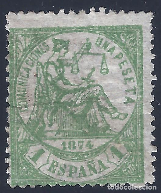 EDIFIL 150 ALEGORÍA DE LA JUSTICIA 1874. VALOR CATÁLOGO: 135 €. LUJO. MH * (Sellos - España - Amadeo I y Primera República (1.870 a 1.874) - Nuevos)