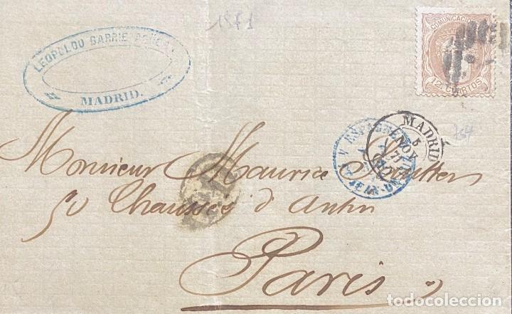 ESPAÑA, CARTA CIRCULADA EN EL AÑO 1871 (Sellos - España - Amadeo I y Primera República (1.870 a 1.874) - Cartas)