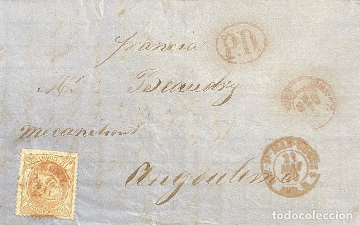 ESPAÑA, CARTA CIRCULADA EN EL AÑO 1870 (Sellos - España - Amadeo I y Primera República (1.870 a 1.874) - Cartas)