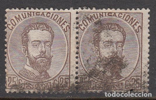 1872 PAREJA DE SELLOS USADOS NUM 124 (Sellos - España - Amadeo I y Primera República (1.870 a 1.874) - Usados)