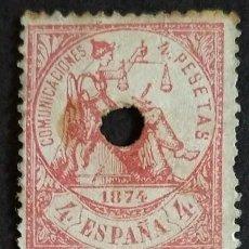 Sellos: ESPAÑA. (CAT. 151/GRAUS - ). 4 PTAS. FALSO POSTAL TIPO IV. INÉDITO HASTA LA FECHA. RARÍSIMO.. Lote 40876704