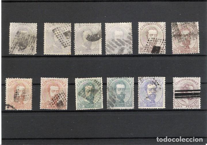 LOTE. AMADEO I.VARIOS VALORES, USADOS. OCASION (Sellos - España - Amadeo I y Primera República (1.870 a 1.874) - Usados)
