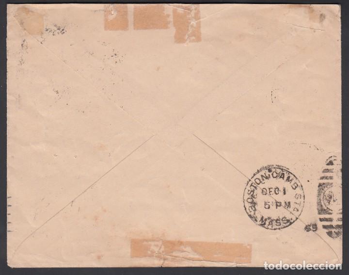 Sellos: Carta comercial, Granada a U.S.A, circulada con sellos 5 cts, 10 cts y Timbre Movil 10 cts, - Foto 2 - 215517720