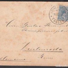 Selos: CARTA CIRCULADA TANGER A ALEMANIA, SELLO 25 CTS AZUL ALFONSO XIII. MAT. CORREO ESPAÑOL TANGER.. Lote 215529741