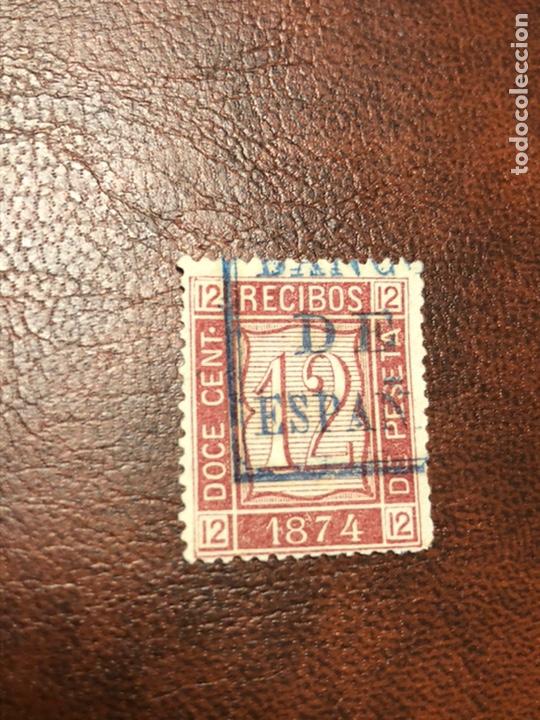 SELLO RECIBOS 1874 ALEMANY 20 (Sellos - España - Amadeo I y Primera República (1.870 a 1.874) - Nuevos)