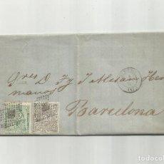 Sellos: CIRCULADA Y ESCRITA HABRA QUE COBRAR JUDICIALMENTE 1874 DE ALMERIA A BARCELONA. Lote 217453680