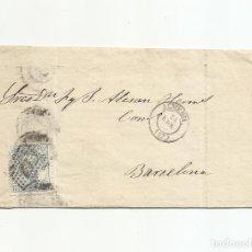 Sellos: CIRCULADA Y ESCRITA 1873 DE ALMERIA A BARCELONA. Lote 217454182
