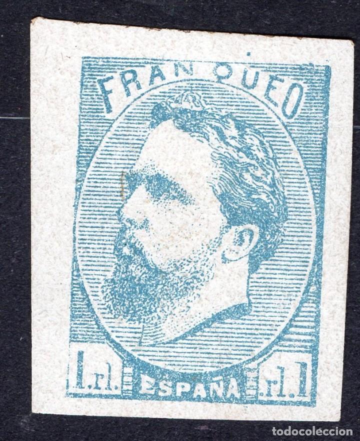 ESPAÑA /1873/MH/SC# X2/ SELLO CARLISTA / REIMPRESION?? / EDIFIL 156 (Sellos - España - Amadeo I y Primera República (1.870 a 1.874) - Nuevos)