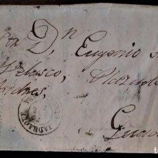 Selos: JADRAQUE GUADALAJARA REGENCIA DUQUE DE LA TORRE EDIFIL 107 CARTA 1870. Lote 218487447