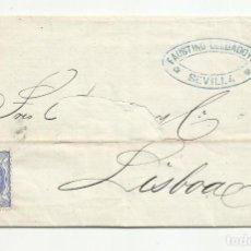 Selos: CIRCULADA Y ESCRITA 1870 DE SEVILLA A LISBOA PORTUGAL. Lote 218695053