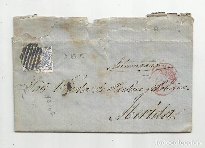 CIRCULADA Y ESCRITA 1870 DE MADRID A MERIDA BADAJOZ (Sellos - España - Amadeo I y Primera República (1.870 a 1.874) - Cartas)