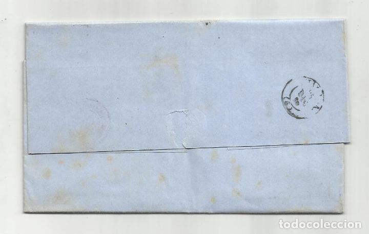 Sellos: circulada y escrita 1870 de madrid a malaga con parrilla numerada 1 - Foto 3 - 218695342