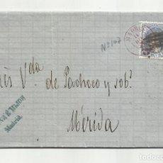 Sellos: CIRCULADA 1870 DE MADRID A MERIDA BADAJOZ CON PARRILLA. Lote 218708402