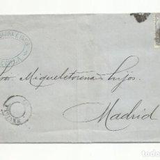 Selos: CIRCULADA 1872 DE SEVILLA A MADRID. Lote 218708607