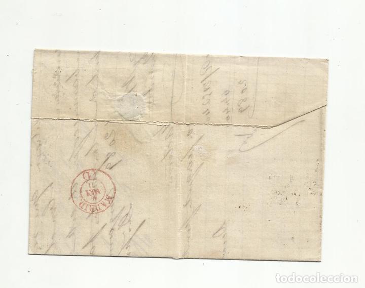 Sellos: circulada Y ESCRITA 1871 de valladolid a madrid rueda carreta - Foto 3 - 218718252
