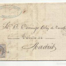 Sellos: CIRCULADA Y ESCRITA 1870 DE VALLADOLID A MADRID. Lote 218720881