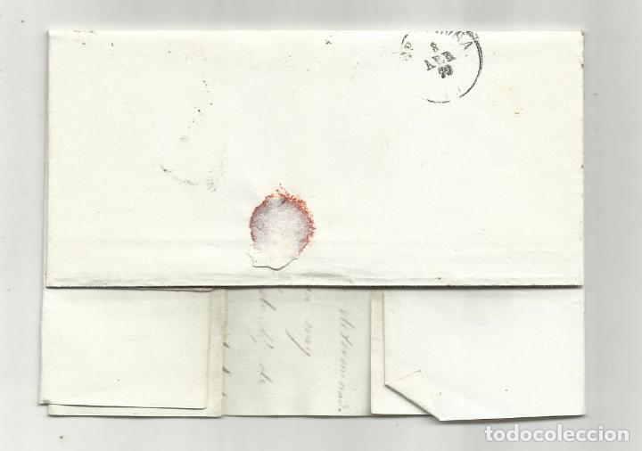 Sellos: circulada Y ESCRITA 1870 de lerida a barcelona con parrilla numerada - Foto 3 - 218721117