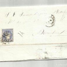 Sellos: CIRCULADA Y ESCRITA 1870 DE LERIDA A BARCELONA CON PARRILLA NUMERADA. Lote 218721117