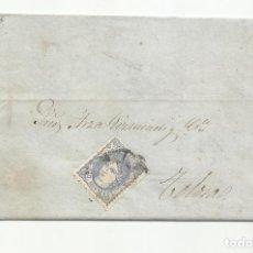 Sellos: CIRCULADA Y ESCRITA 1887 DE VALLADOLID A TOLOSA. Lote 218758440