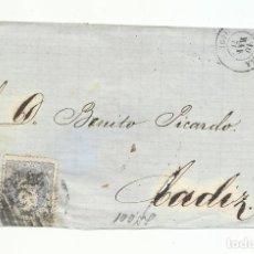 Selos: FRONTALCIRCULADA 1871 DE ZAMORA A CADIZ. Lote 218855671