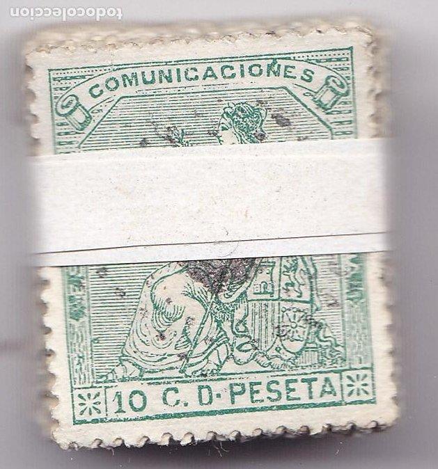 ST(CJTª)- CLASICOS Iª REPÚBLICA EDIFIL 133 . PASTILLA 100 SELLOS . BUENA CALIDAD (Sellos - España - Amadeo I y Primera República (1.870 a 1.874) - Usados)