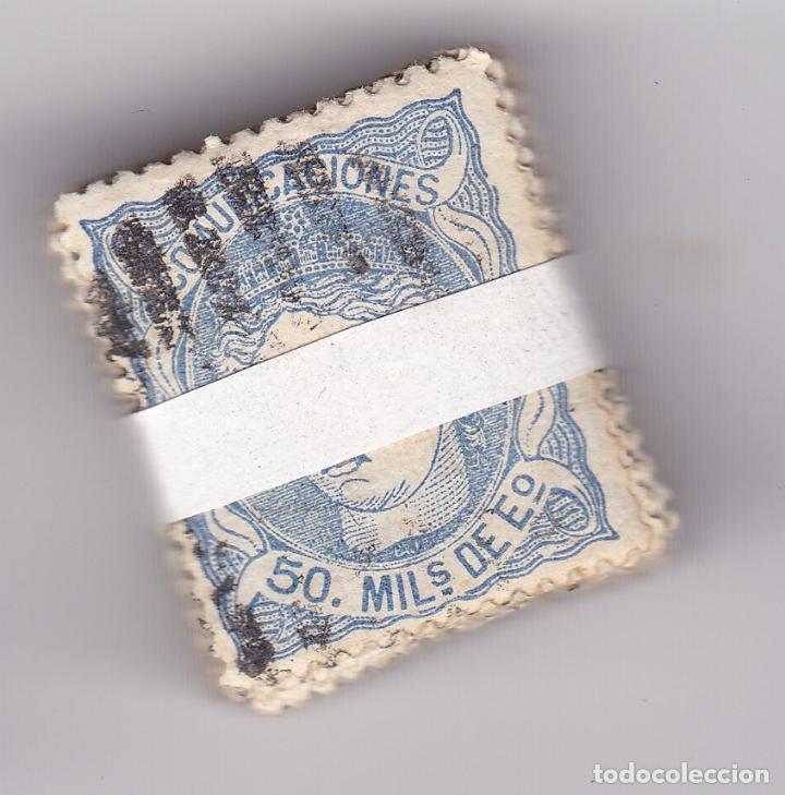 ST(CJTª)- CLASICOS Iª REPÚBLICA EDIFIL 107 . PASTILLA 100 SELLOS . (Sellos - España - Amadeo I y Primera República (1.870 a 1.874) - Usados)