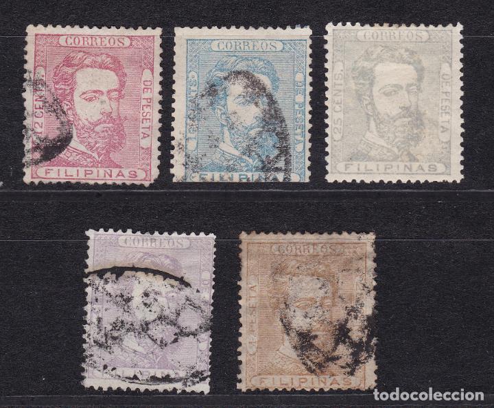 LL24- CLÁSICOS COLONIAS FILIPINAS EDIFIL 25/29 (Sellos - España - Amadeo I y Primera República (1.870 a 1.874) - Usados)