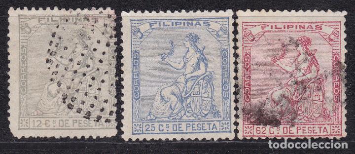 LL24- CLÁSICOS COLONIAS FILIPINAS EDIFIL 30/ 32 (Sellos - España - Amadeo I y Primera República (1.870 a 1.874) - Usados)