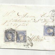 Selos: ENVUELTA CIRCULADA 1870 DE SEGOVIA A MADRID CON ARAÑA DE LLEGADA. Lote 219489915