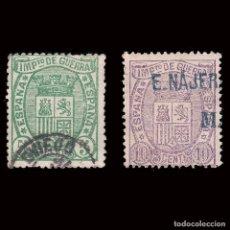 Sellos: 1875.ESCUDO DE ESPAÑA.USADO.EDIFIL.154-155. Lote 220921921