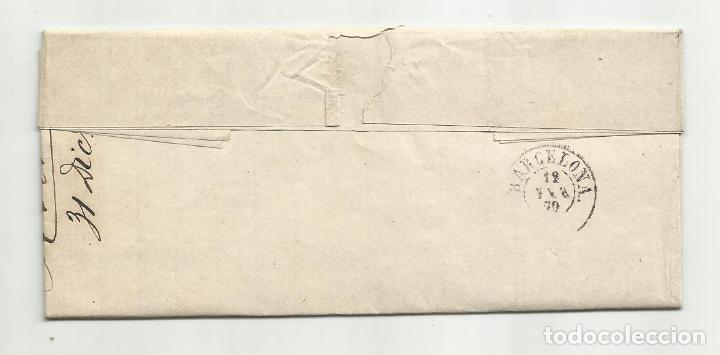 Sellos: circulada Y ESCRITA NO HACE FALTA SALCHICHON 1870 DE ALMERIA A BARCELONA - Foto 3 - 221859715