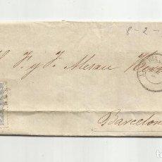 Sellos: CIRCULADA Y ESCRITA NO HACE FALTA SALCHICHON 1870 DE ALMERIA A BARCELONA. Lote 221859715