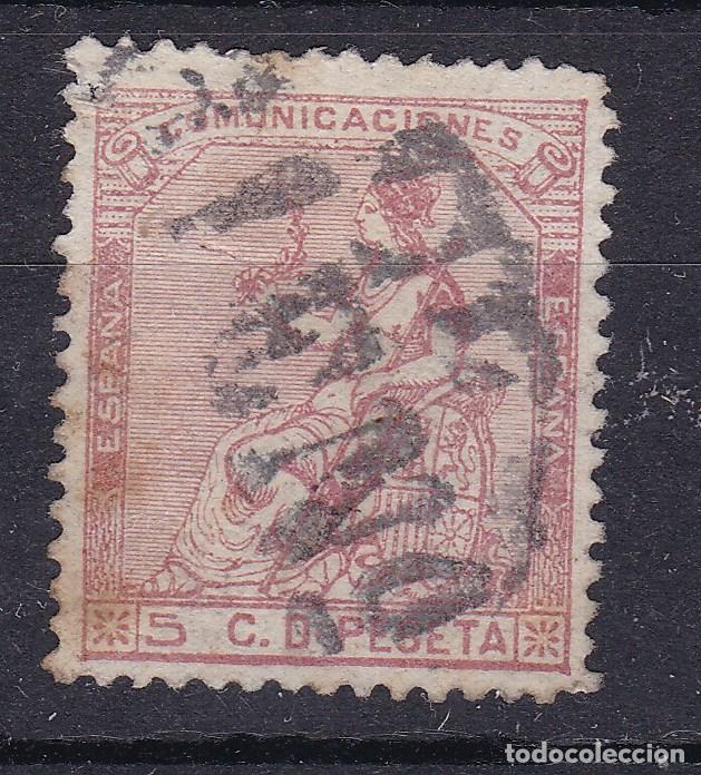 JJ7 - CLÁSICOS EDIFIL 132 USADO RARO MATASELLOS (Sellos - España - Amadeo I y Primera República (1.870 a 1.874) - Usados)