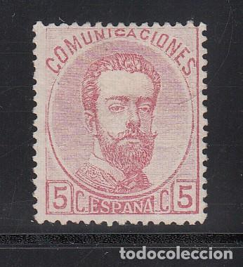 ESPAÑA, 1872 EDIFIL Nº 118 /*/, 5 C. ROSA, AMADEO I (Sellos - España - Amadeo I y Primera República (1.870 a 1.874) - Nuevos)
