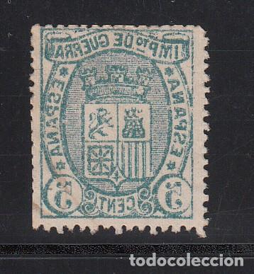 ESPAÑA, 1875 EDIFIL Nº 154 IC, VARIEDAD, IMPRESIÓN CALCADA AL DORSO (Sellos - España - Amadeo I y Primera República (1.870 a 1.874) - Usados)