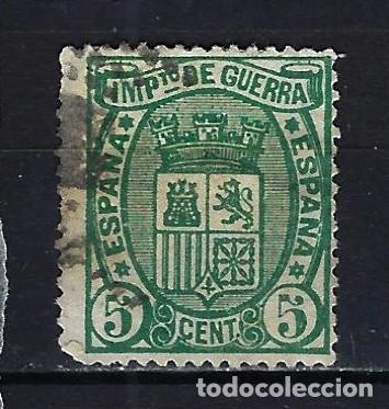 1875 ESPAÑA ESCUDO IMPUESTO DE GUERRA EDIFIL 154 USADO (Sellos - España - Amadeo I y Primera República (1.870 a 1.874) - Usados)