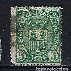 Sellos: 1875 ESPAÑA ESCUDO IMPUESTO DE GUERRA EDIFIL 154 USADO. Lote 222391182