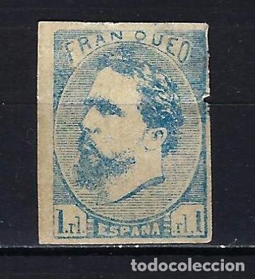 1873 ESPAÑA CORREO CARLISTA EDIFIL 156 NUEVO CON FIJASELLOS - DEFECTO LATERAL DERECHO (Sellos - España - Amadeo I y Primera República (1.870 a 1.874) - Nuevos)