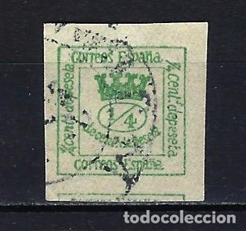 1873 ESPAÑA CORONA REAL 1/4 EDIFIL 130 USADO (Sellos - España - Amadeo I y Primera República (1.870 a 1.874) - Usados)