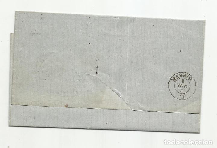 Sellos: ENVUELTA circulada 1872 DE CADIZ A MADRID CON FECHADOR LLEGADA - Foto 2 - 222517465